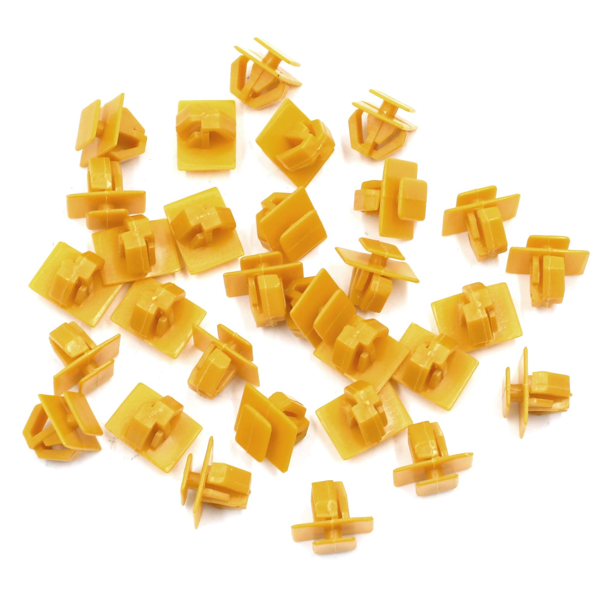 30pcs Yellow Car Trim Door Panel Retainers Bumper Fender Plastic Rivets Clips - image 2 of 2