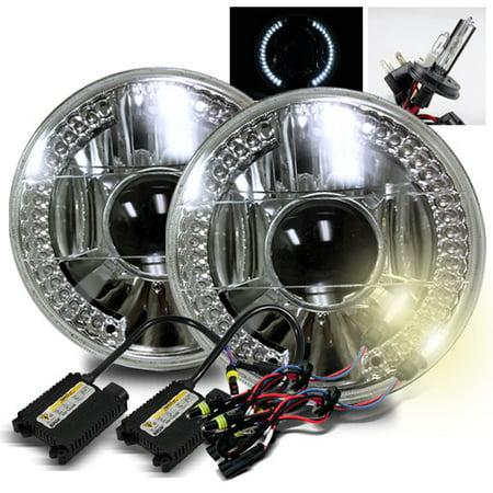 - ModifyStreet 4300K H4-2 HID + White LED Ring H6014/H6015/H6017/H6052/H6024 7