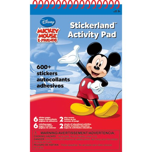 Mickey Mouse Sticker Pad, 16-Pages