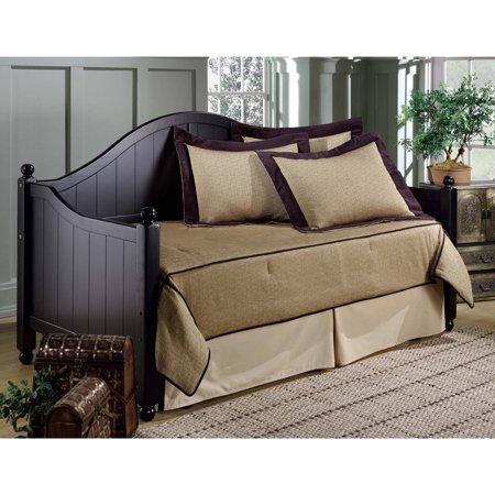 Hillsdale Furniture Augusta Wooden Twin Daybed with Trundle, Black