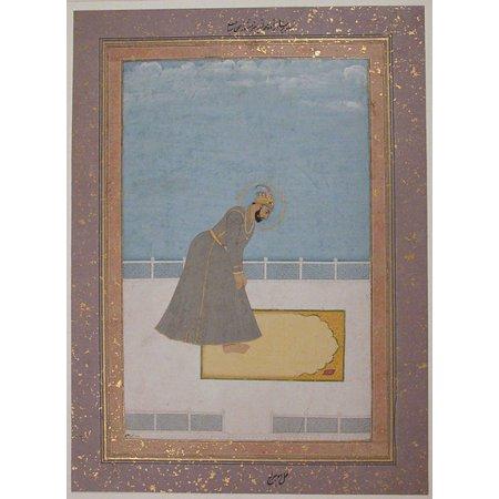 Portrait of Prince Muhammad Buland Akhtar (known as Nur Achhe Sahib) at Prayer Poster Print by Painting by Hujraj (18 x