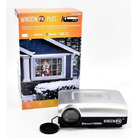 Window FX Plus Projector Kit Holiday Video Decorating Kit with 16 Videos