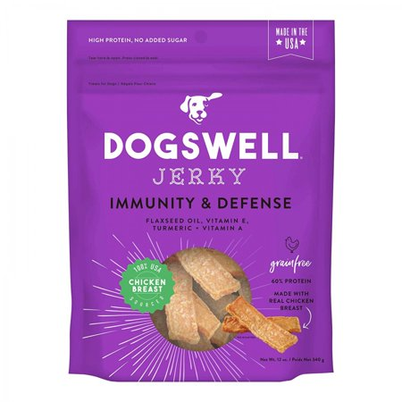 Dogswell Immunity & Defense Jerky Grain-Free Chicken Breast for Dogs