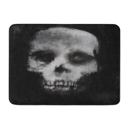 SIDONKU Face Scary of Skull Horror Spooky Halloween White Black Doormat Floor Rug Bath Mat 30x18 - Black And White Painted Faces For Halloween