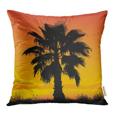 Coco Palms - CMFUN Plant Palm Tree Tropical Beautiful Beauty Coco Exotic Grass Hawaii Pillowcase Cushion Cover 18x18 inch