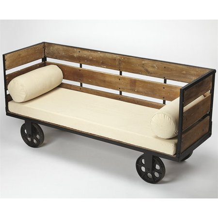 Mobile Bench (Butler Specialty Mobile Accent Bench in Ivory and Brown )