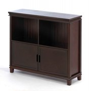 Home Locomotion Espresso Wood Cabinet