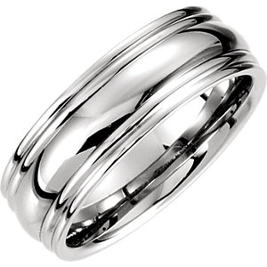 14K Yellow 7.5mm Comfort Fit Fancy Carved Band Size 04.00