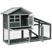 Gymax 58'' Wooden Rabbit Hutch Large Chicken Coop Weatherproof Indoor & Outdoor Use