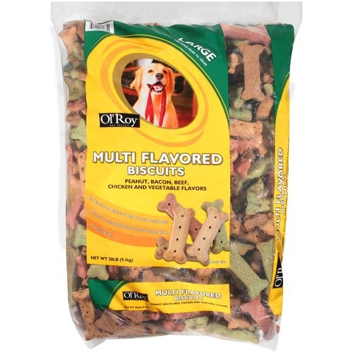 Ol'Roy Multi Flavored Biscuit Large Dog Treats, 20 Lb