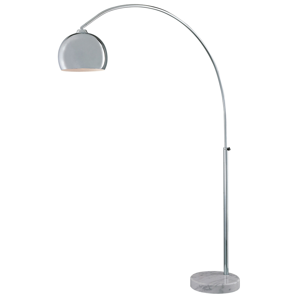 george kovacs p053077 1 light arc floor lamp chrome