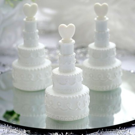 Efavormart Wholesale White Cake Heart Bubbles Wedding Bridal Favor - 24/pk