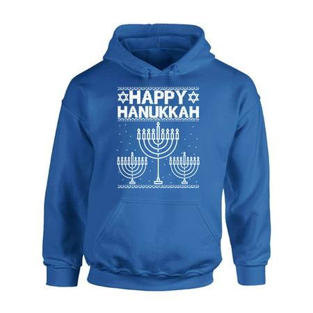 Jewish Christmas Sweater.Awkward Styles Happy Hanukkah Christmas Hoodie Jewish