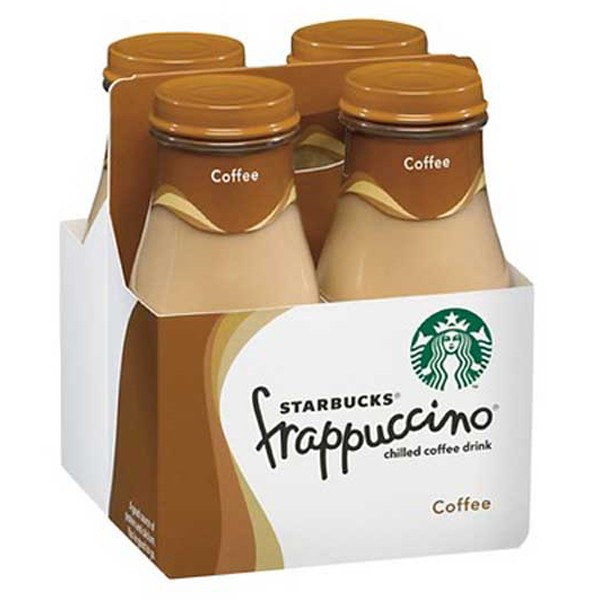 Starbucks Coffee Frappuccino 9.5 oz Glass Bottles Pack of 4 by