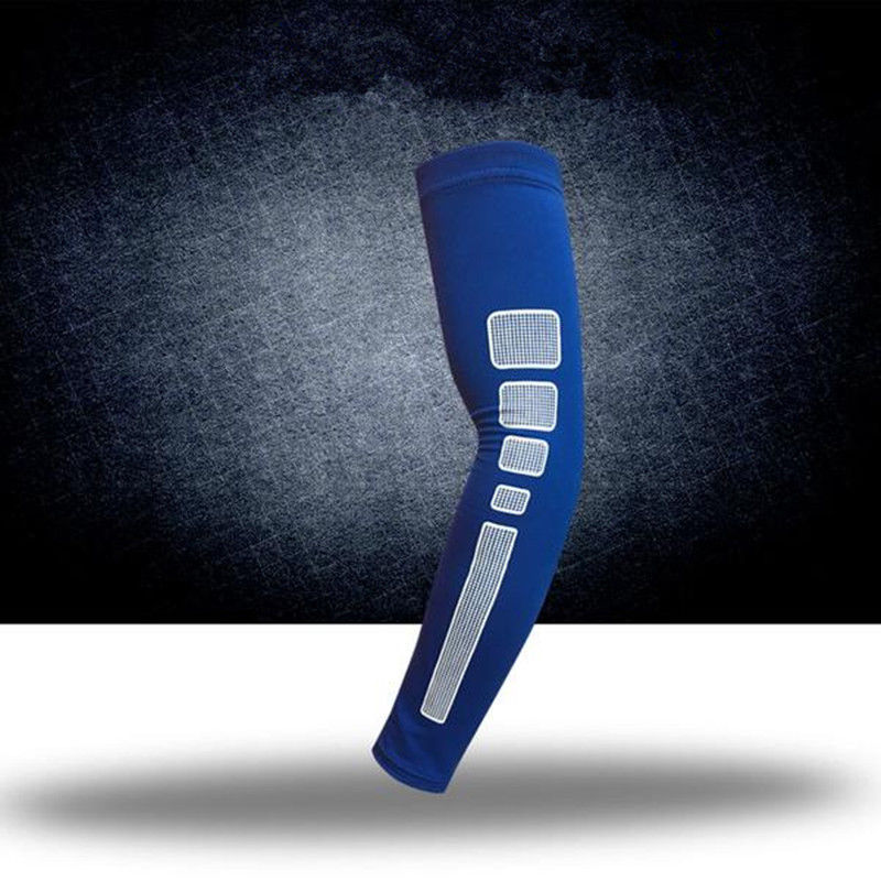 Compression Arm Sleeves Anti-skid Reflective Long Shooter Sleeve for Basketball/Cycling Sports Protection