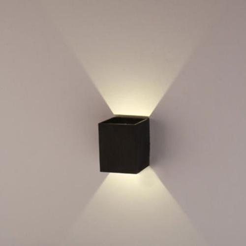 AGPtek 3W LED Wall Lamp Hall Porch Walkway Light Living Room Light Bedroom Lamp - Black