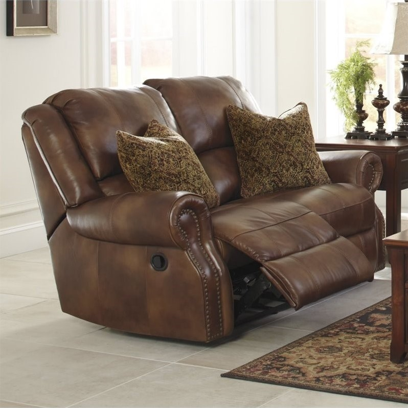 Ashley Walworth Leather Power Reclining Loveseat in Auburn & Ashley Walworth Leather Power Reclining Loveseat in Auburn ... islam-shia.org