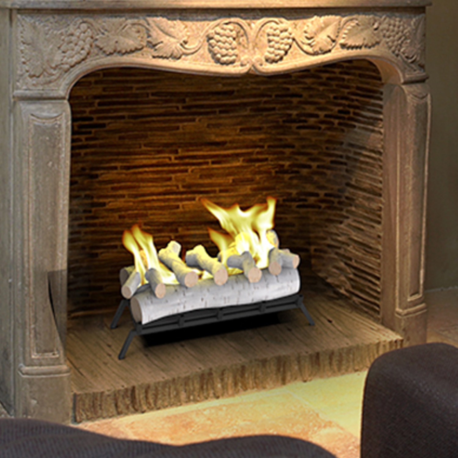 How To Set Up Fake Fireplace Logs