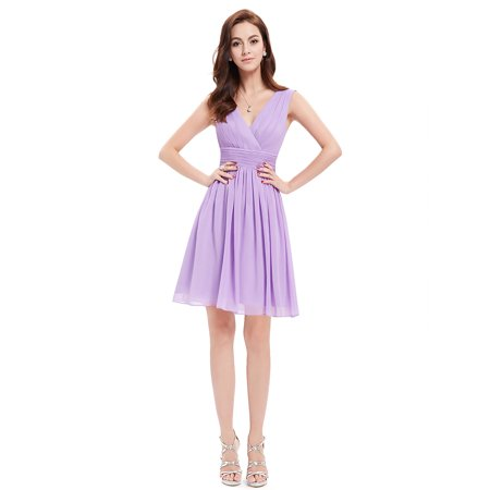 Ever Pretty Women S A Line Sleeveless Short Party Wedding Guest Gala Dinner Dresses For 03989 Lavender Us 8