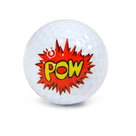 NITRO NOVELTY GOLF BALLS POW - Novelty Golf Balls