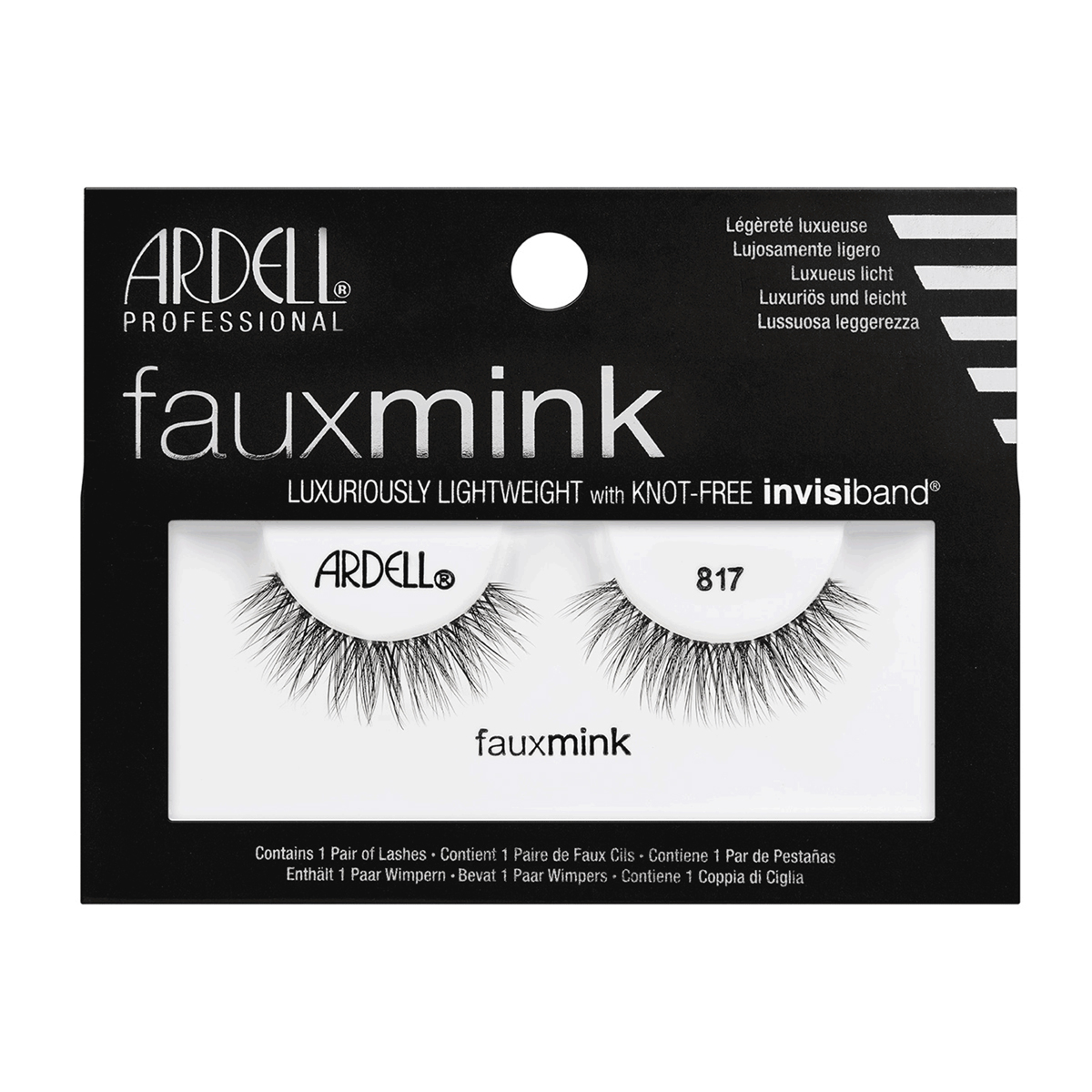 (6 Pack) ARDELL Faux Mink Lashes - 817 Black