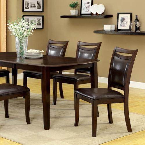 Zitza Lounge Stoel.Furniture Of America Zita Modern Espresso Solid Wood 7 Piece