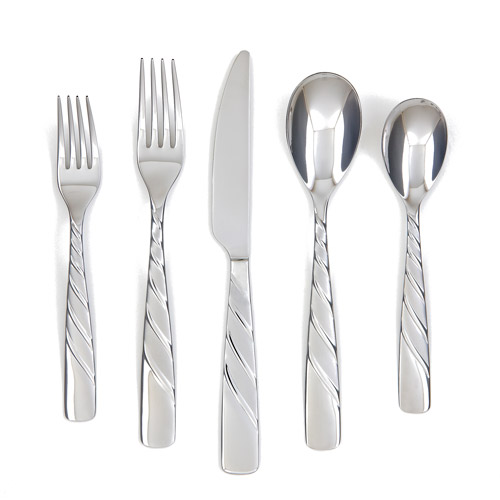 Cambridge Silversmiths Farberware Wasabi Sand 20-Piece Flatware Set