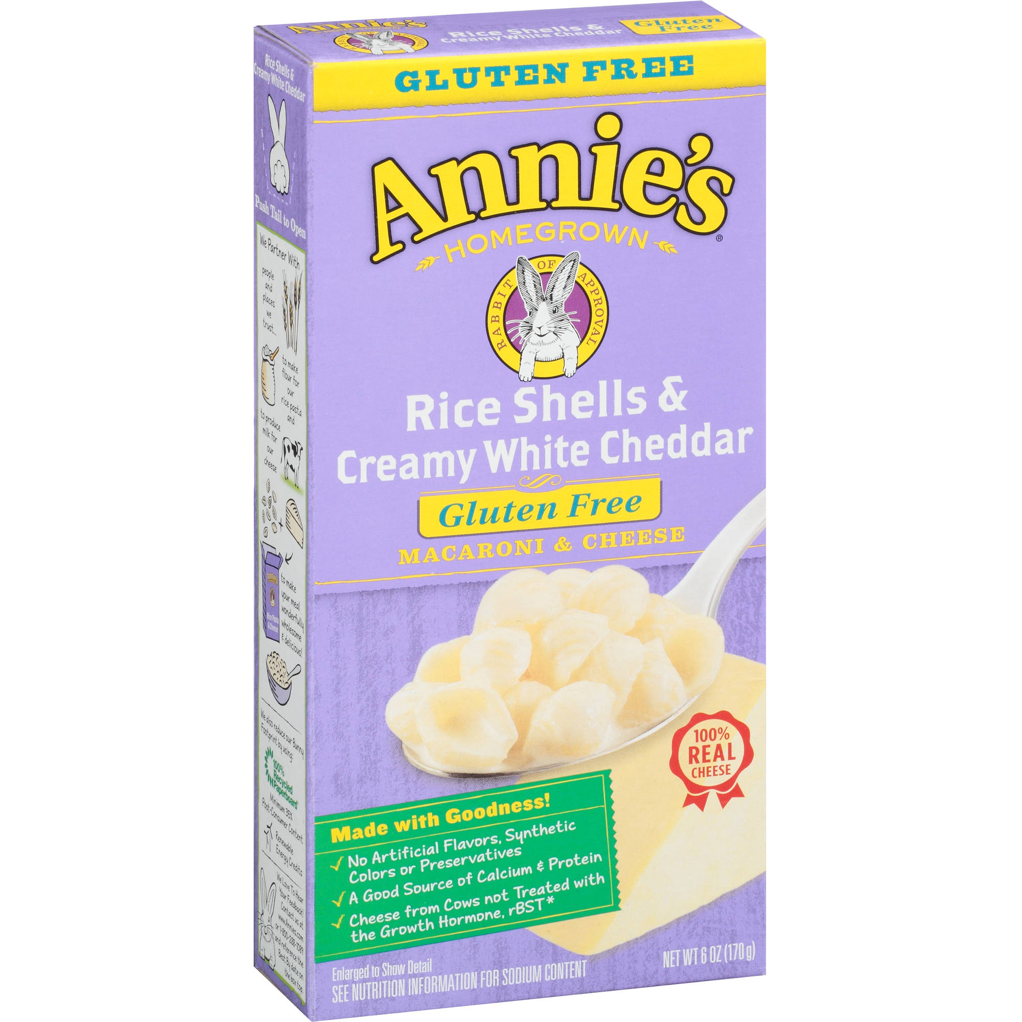 Annie's Homegrown Rice Shells & Creamy White Cheddar Macaroni & Cheese, 6 oz