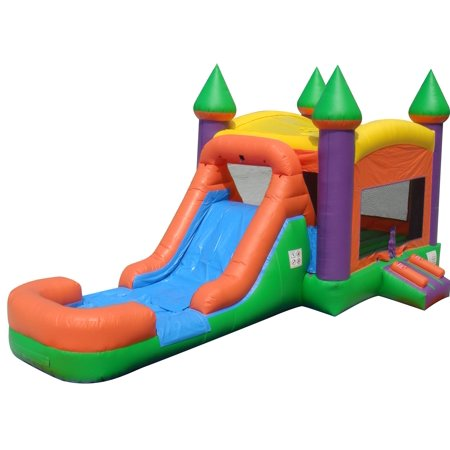 c8ced9977957 Pogo Extreme Orange Commercial Kids Inflatable Bounce House Castle ...