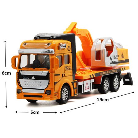 Toy Cars Construction Vehicles Pull Back Cars Excavator Truck Model Children Kids Mini Engineering Toys for 3-12 Year Old Boy Christmas's Gift for Kids](Old Car Heaven Halloween)