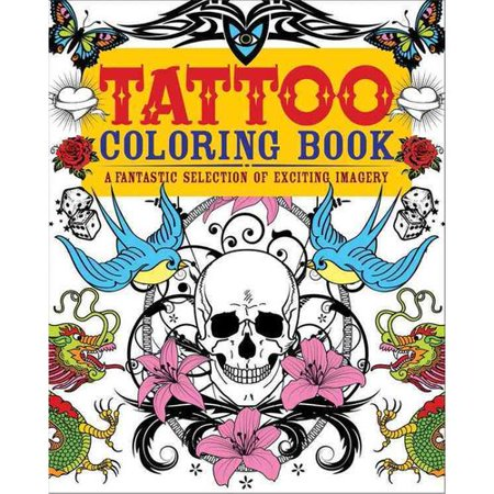 Tattoo adult coloring book a fantastic selection of Coloring book walmart