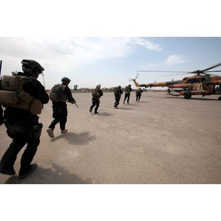 LAMINATED POSTER Baghdad, Iraq- Iraqi Special Operations Forces (ISOF) train with the Iraqi Air Force on April 13. Me Poster Print 24 x (Best Trained Special Forces)