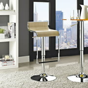 Modway LEM Adjustable Height Wood Bar Stool, Multiple Colors by Modway