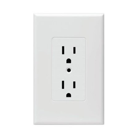 Hubbell Taymac - 2600W Masque Revive 1 Gang Duplex Cover Up Wall Plate - White