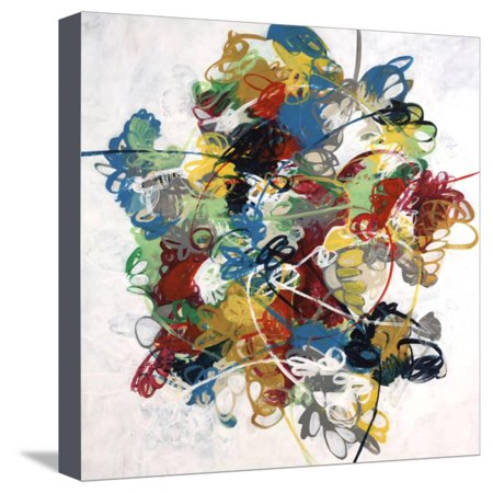 Silly String Stretched Canvas Print Wall Art By Kari - Cheap Silly String
