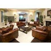 Paladia 4-Piece Top Grain Leather Collection in Rustic including 1-Sofa, 1-Loveseat and 2-Standard Chairs