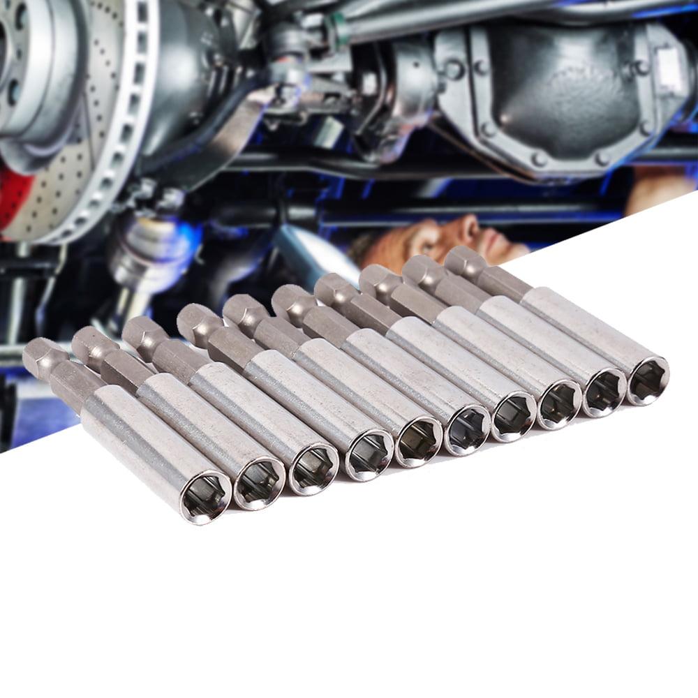 "10Pcs Magnetic Screwdriver Extension Socket Drill Bit Holder 1/4"" Hex Power Tools, Screwdriver Tools, Quick Change Shank"