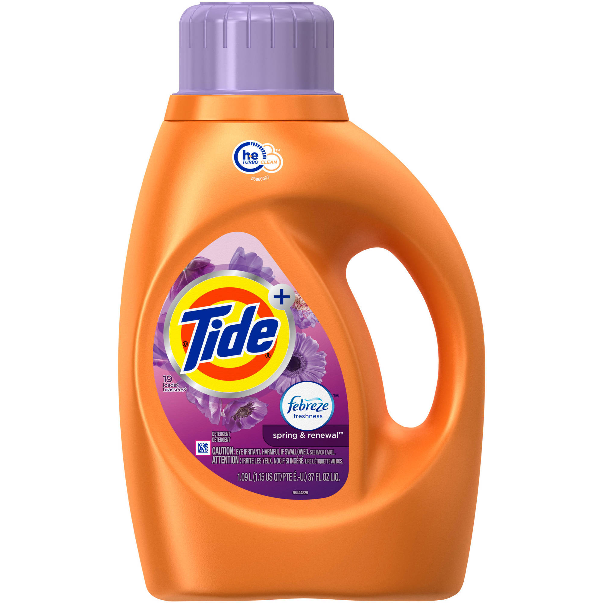 Tide Plus Febreze Freshness Spring and Renewal Scent Liquid Laundry Detergent, (Choose Your Size)
