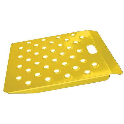 B & P MANUFACTURING CRW2224-SY Curb Ramp, Alum., Yellow, 22 In. W, 24 In. L