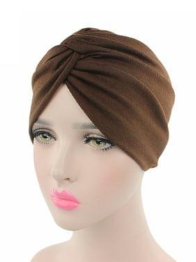 Stretchy Turban Cap Head Wrap Band Women's Hairband Sleep Hat Indian Scarf Hats