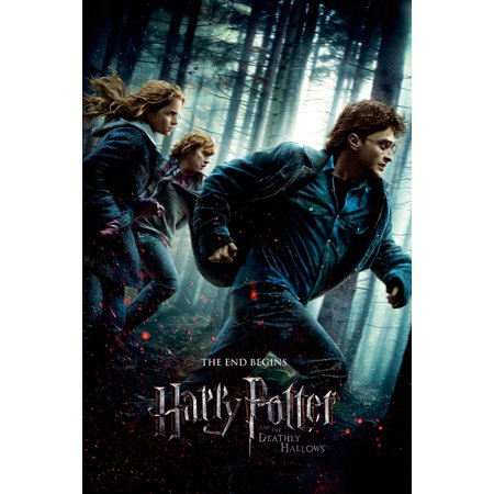 Harry Potter And The Deathly Hallows Part 1 Movie Poster Print Regular Style Size 24 X 36 Black Poster Hanger