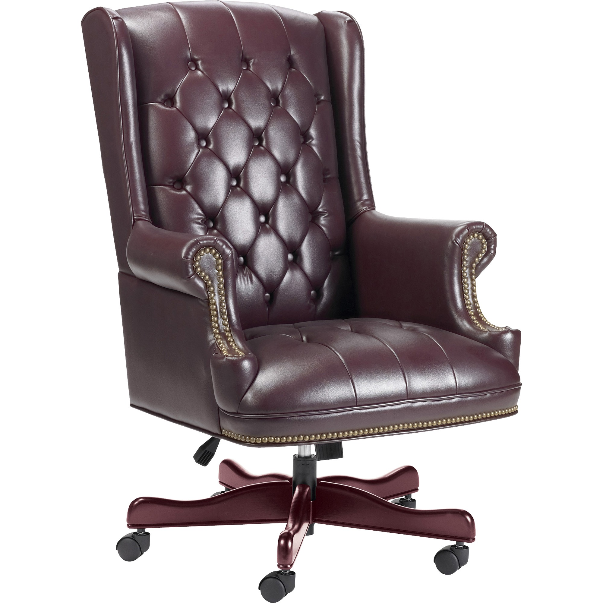 Lorell Traditional Executive Swivel Chair, Oxblood