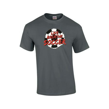 Ac Milan Soccer Shirts - Soccer T-Shirt Live Breathe Soccer