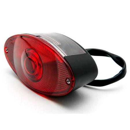 Krator Black Cat Eye License Plate Taillight Brake Light For Suzuki LT Quadsport Quadracer 4WD Trailbuddy