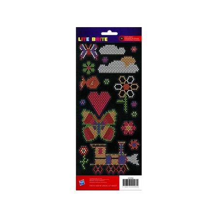AMC Hasbro Sticker Crdstk Lite Brite Icons