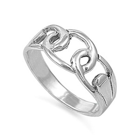 Chain Link Infinity Knot Forever Wholesale Ring ( Sizes 5 6 7 8 9 ) Sterling Silver Band Rings by Sac Silver (Size (Sterling Silver Chain By The Foot Wholesale)