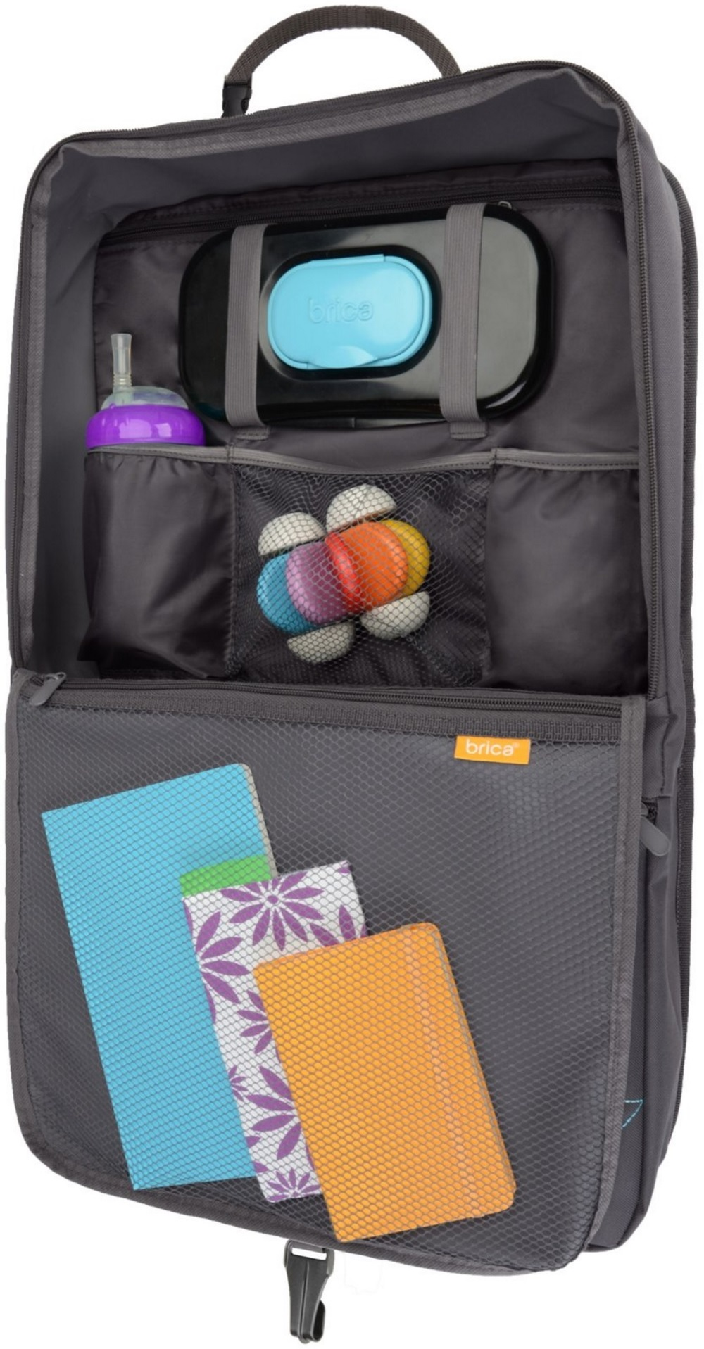 Brica I-Hide Seat Back Organizer With Table Viewer