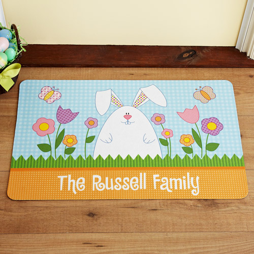 Personalized Garden Bunny Doormat