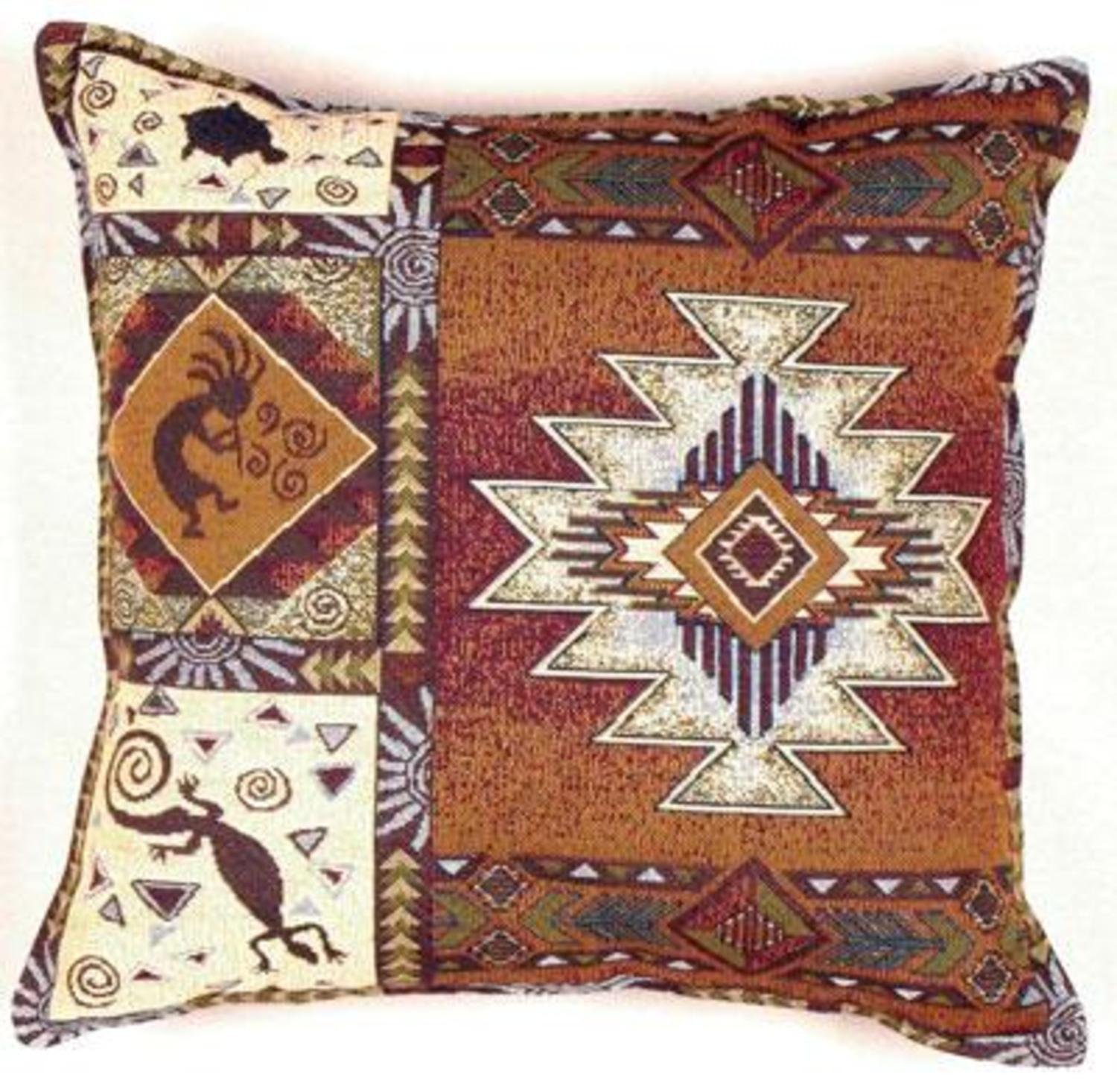 Kokopelli Southwestern Decorative Tapestry Toss Pillow Southwestern Style Native American Style Casual Style By Simply Home Ship From Us Walmart Com Walmart Com