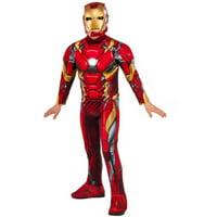 """Avengers """"Iron Man"""" Child Deluxe Jumpsuit Halloween Costume"""